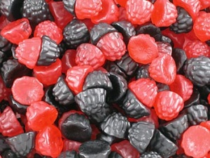 Blackberry And Raspberry Gums Traditional Sweets From
