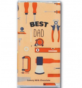 Best Dad Luxury Milk Chocolate Bar