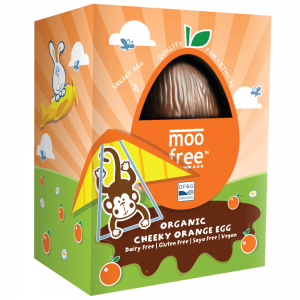 Moo Free Dairy Free Easter Egg Cheeky Orange