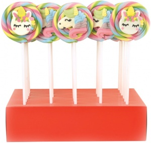 Unicorn Lollypops Large 8cm Diameter 60g