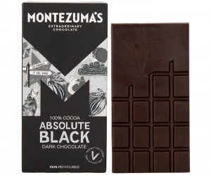 Montezumas 100% Absolute Black Dark Chocolate Bar