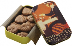 Amatller 32% Milk Chocolate Leaves Gift Tin
