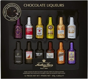 Anthon Berg Mini Chocolate Bottle Liqueurs 12pcs