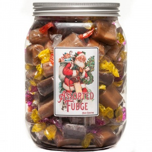 Assorted Fudge Christmas Selection Jar