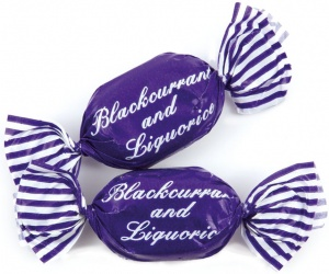Blackcurrant and Liquorice Sweets 100g