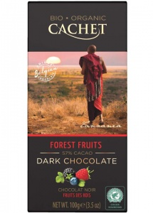 Cachet Forest Fruits Organic Dark Chocolate Bar