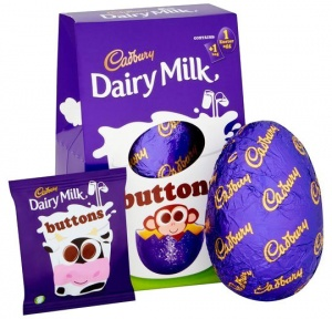 Cadbury Dairy Milk Button Easter Egg 128g