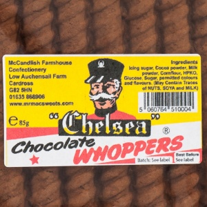 Chelsea Whoppers (Original Scottish Chocolate Fudge Bar)