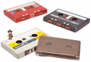 Chocolate Cassette Tapes - C90 Retro Music Gift (3 pack)