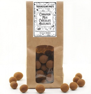 Cinnamon Dusted Milk Chocolate Hazelnuts - 200g Eco Kraft Gift Bag