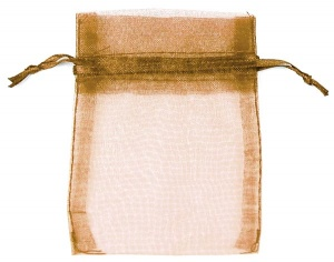 Copper Brown Organza Bags x 10