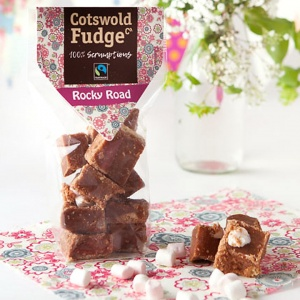 Cotswold Rocky Road Fudge  (Fairtrade) 150g