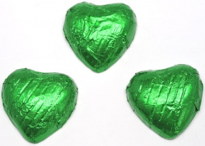 Dark Green Chocolate Hearts