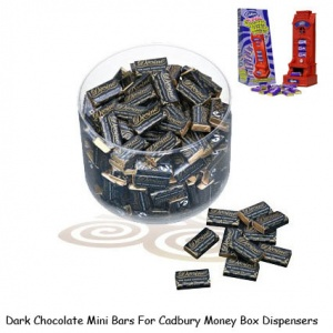 Mini Dark Chocolate Bars For Cadbury Money Box Machines