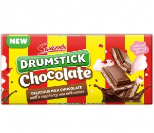 Drumstick Milk Choocolate Bar Raspberry & Milk Centre 100g