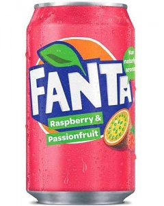 Fanta Raspberry & Passionfruit USA Soda Can 355m