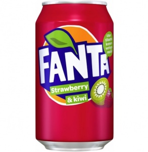 Fanta Strawberry & Kiwi USA Soda Can 355ml
