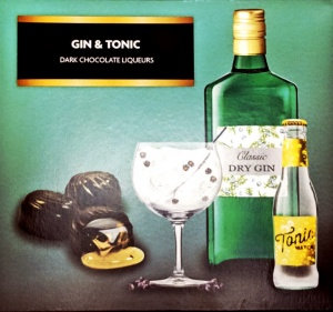 Gin & Tonic Dark Chocolate Liqueurs 150g