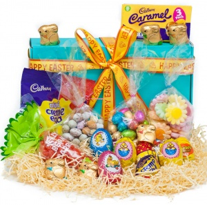 Happy Easter Chocolate Eggs & Sweets Hamper