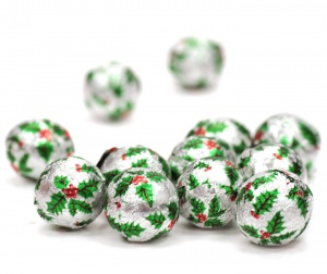 Milk Chocolate Christmas Holly Balls x 500 (3Kg)