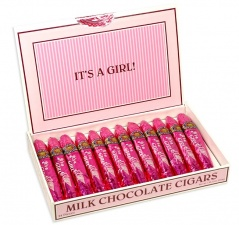 It's A Girl Chocolate Cigars