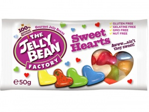40% OFF - Jelly Bean Factory Sweet Hearts 50g Bag (best before 15.01.21)