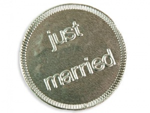Just Married Chocolate Coins