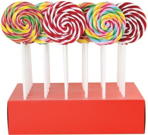 Fruity Round Lollies All Natural 10cm Diameter 55g