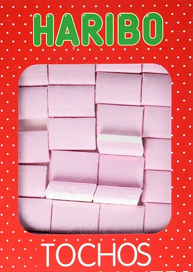 Haribo Tochos Strawberry Ice Square Bricks