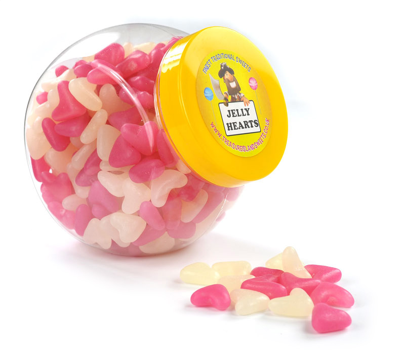 Jelly Bean Hearts Jar