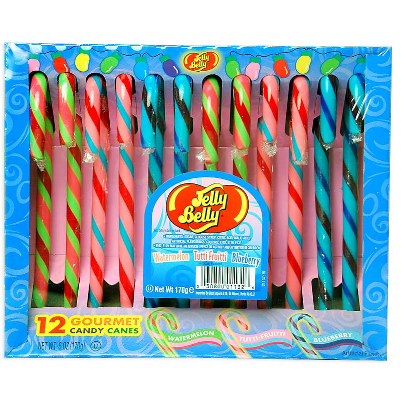 Jelly Belly Candy Canes Pack of 12 (Blue Box)