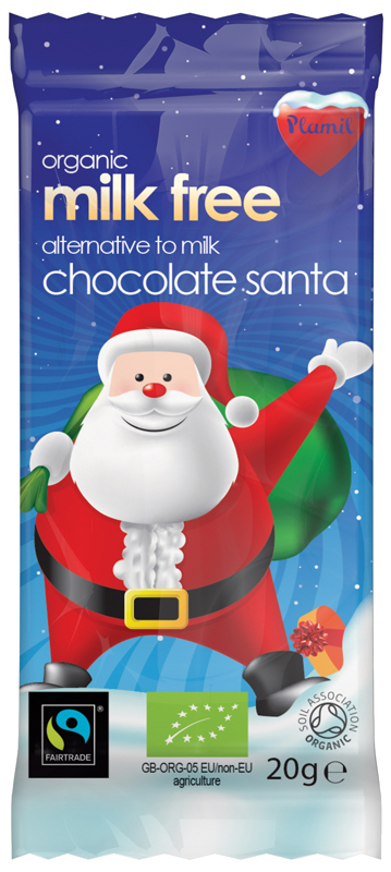 Dairy and Gluten Free Mini Chocolate Santa Bar