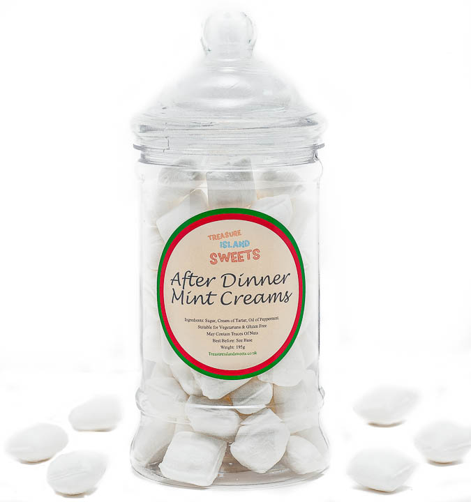 After Dinner Mint Creams (Hand-Made) - Victorian Sweet Jar