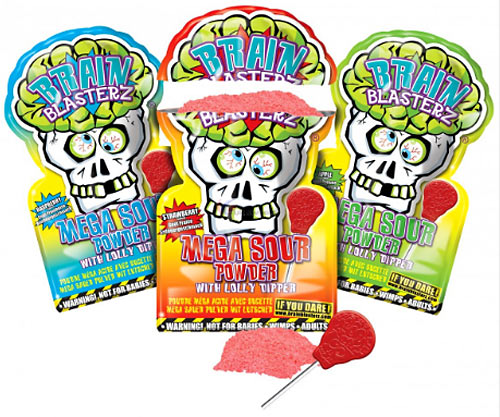 Brain Blasterz Mega Sour Powder & Lolly