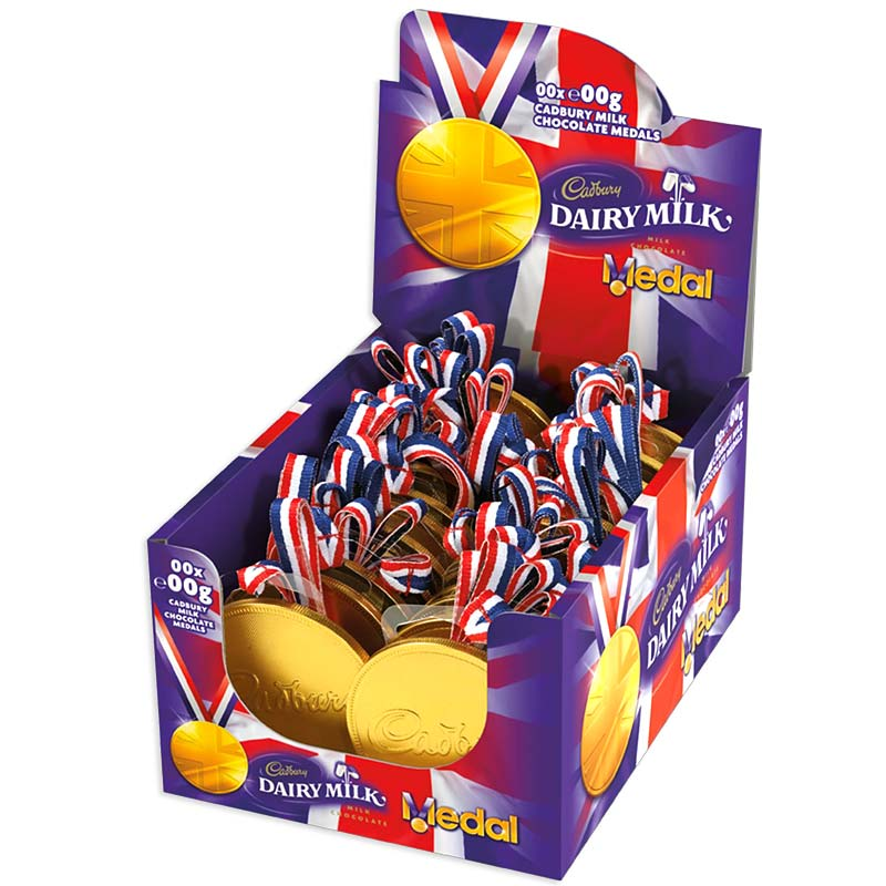 Cadbury Chocolate Medals Box Of 24