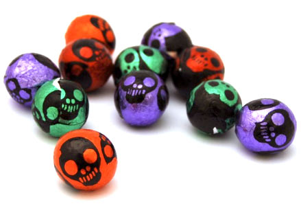 Mini Chocolate Skulls For Halloween In Foil