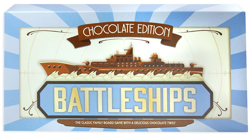 Milk Chocolate Battleships Edible Game