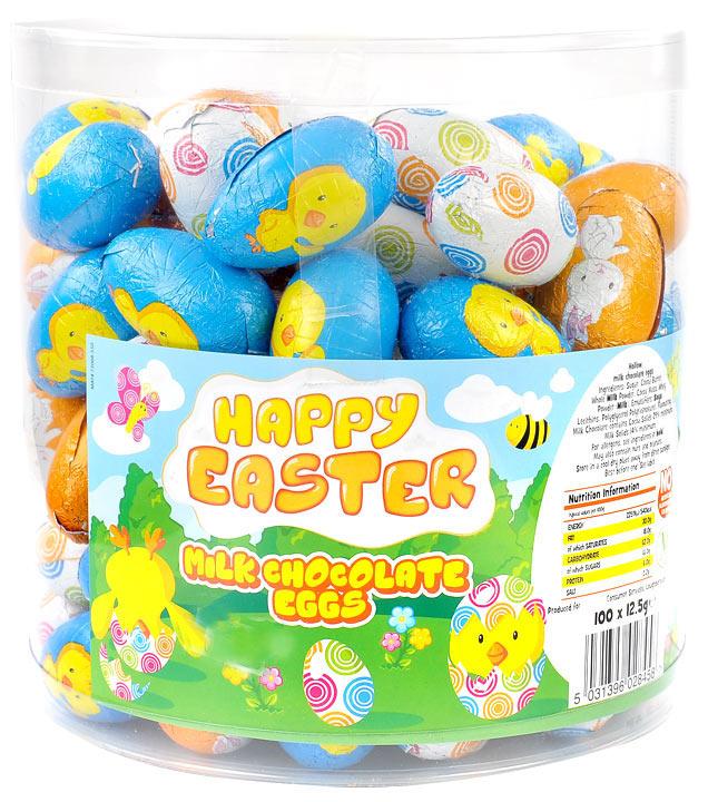Easter treasureislandsweets easter eggs bulk tub of 100 negle Images