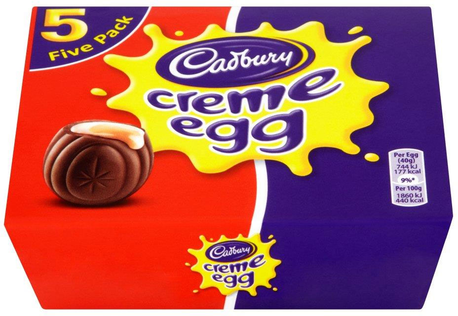 Cadbury Cream Eggs 5 Pack