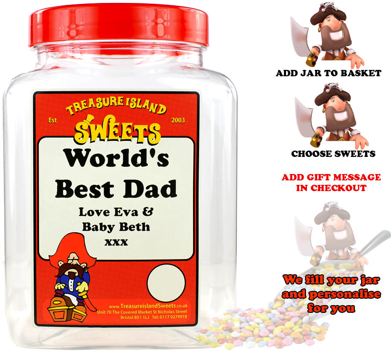 Create Your Own Personalised World's Best Dad Selection Jar