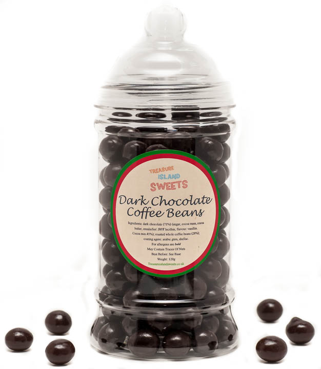 Dark Chocolate Coffee Beans  - Victorian Sweet Jar 350g