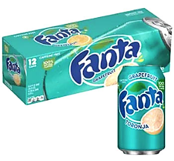 Fanta Grapefruit USA Soda Can 355ml (Best Before 12.05.20)