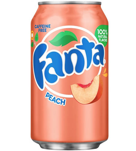 Fanta Peach USA Soda Can 355ml
