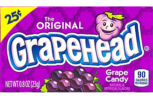 Grapehead Candy The Original Grape Head