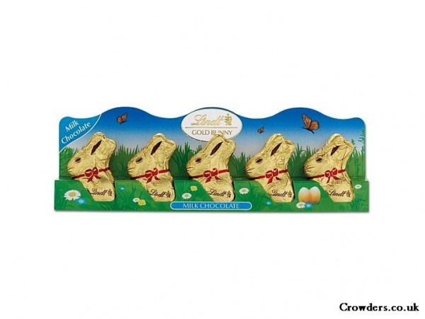 Mini Lindt Easter Bunny Pack Of Five