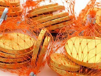 Chocolate Coins Bulk Box 60 Nets (Real Milk Chocolate)