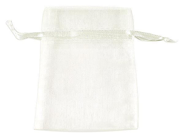 Ivory Organza Bags x 10