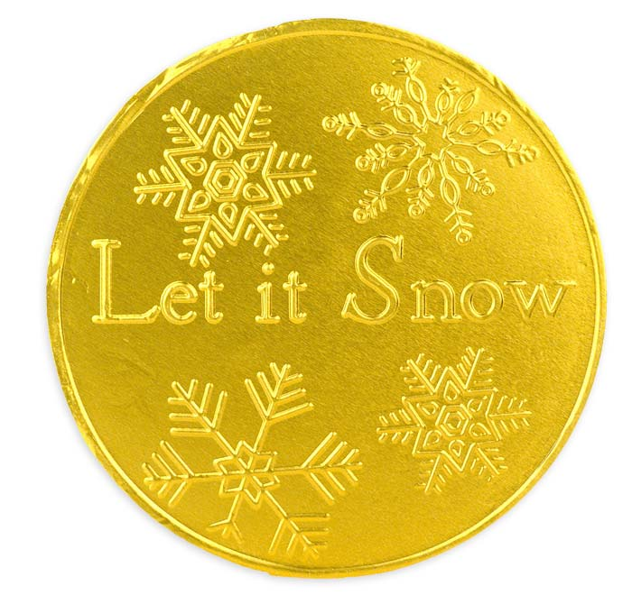Giant Gold Christmas Coin 100mm