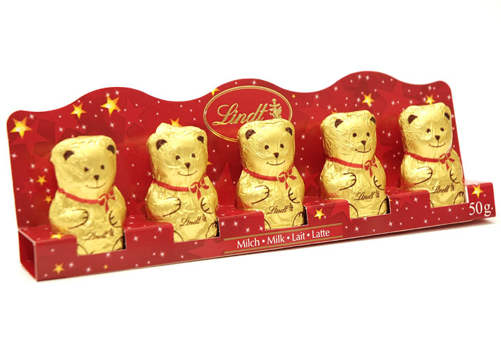 Lindt Gold Bears 5 Pack