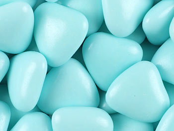 Mini Blue Chocolate Heart Dragees